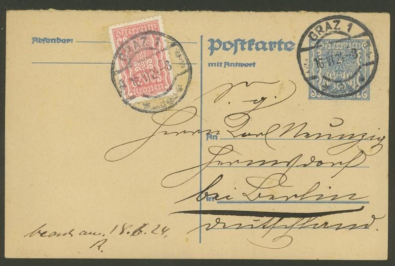 """Postkartenserie """"Quadratischer Wertstempel - Wertziffer im Dreieck"""" 1922-24 - Seite 3 P_263_11"""