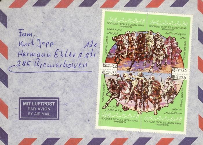 Horses / Pferde (Marken auf Brief oder Karte) Reiter10