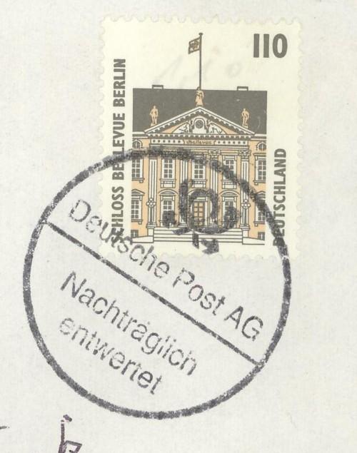 Nachträglich entwertet   -   Stempel aus Deutschland Schwar10