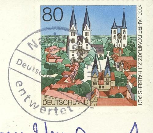 Nachträglich entwertet   -   Stempel aus Deutschland Schwar11