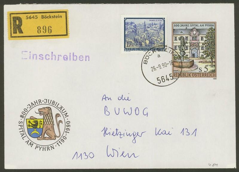 Amtliche Briefumschläge Republik Österreich, gelaufen U_8110