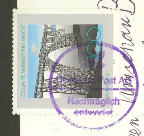 Nachträglich entwertet   -   Stempel aus Deutschland Violet10