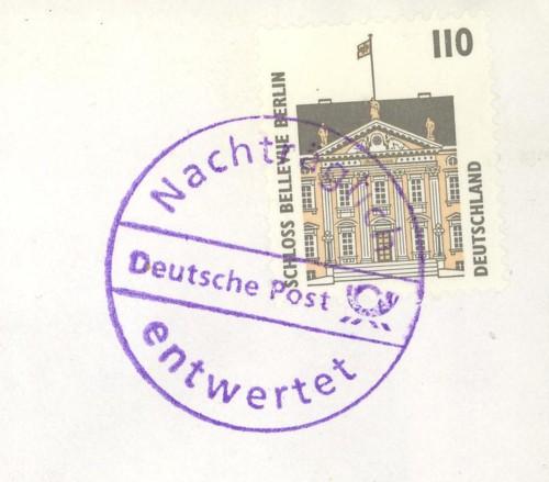 Nachträglich entwertet   -   Stempel aus Deutschland Violet11