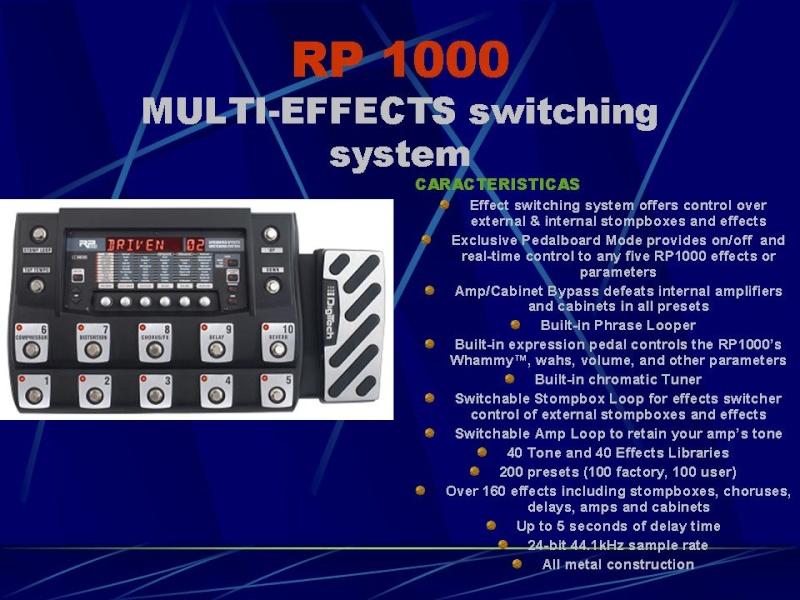DIGITECH RP-1000 Diapos10