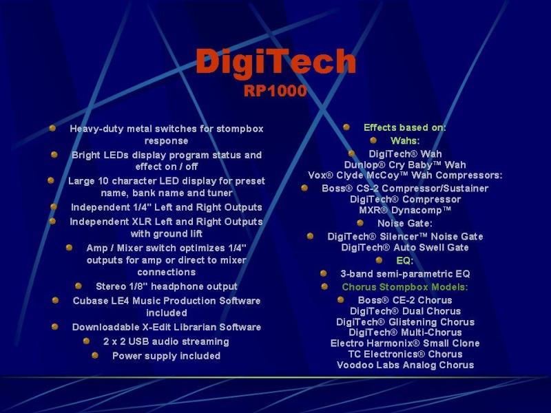 DIGITECH RP-1000 Diapos11