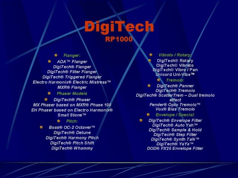 DIGITECH RP-1000 Diapos12