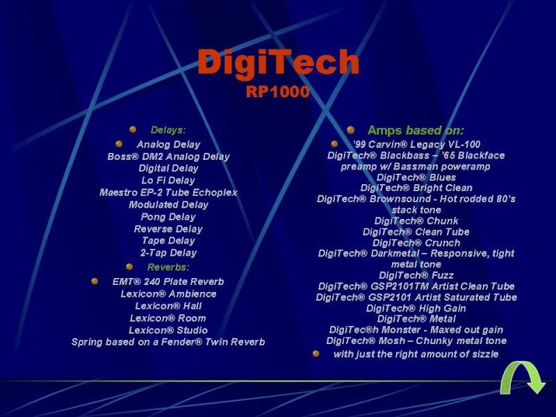 DIGITECH RP-1000 Diapos13