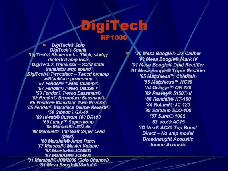 DIGITECH RP-1000 Diapos14
