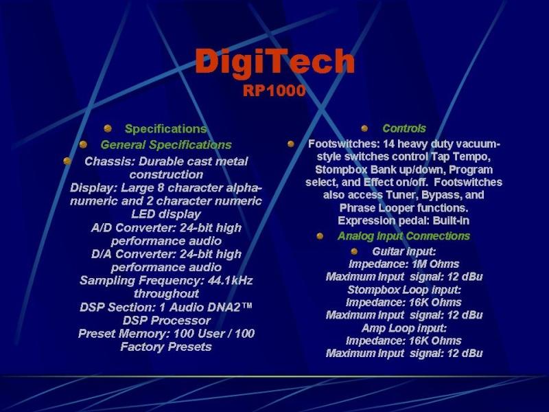 DIGITECH RP-1000 Diapos15
