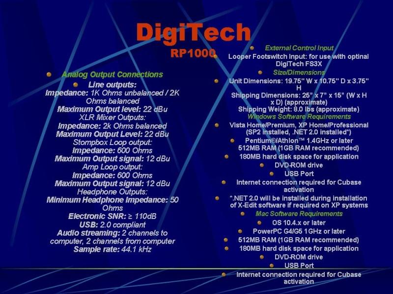 DIGITECH RP-1000 Diapos16