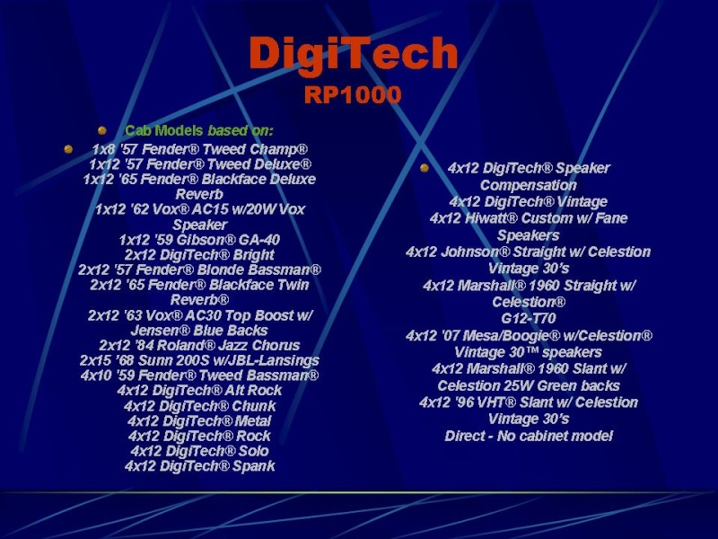 DIGITECH RP-1000 Diapos18