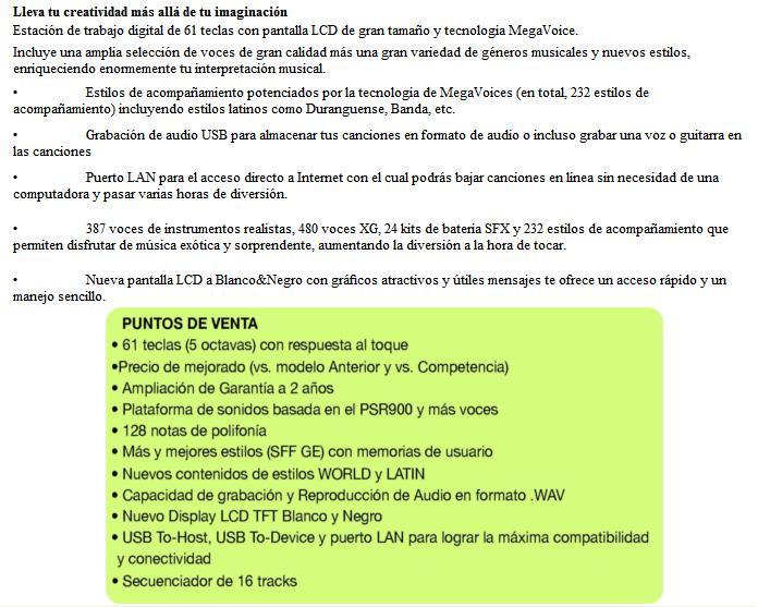 TECLADO YAMAHA PSR-S710, NUEVO!!! Psrs7111