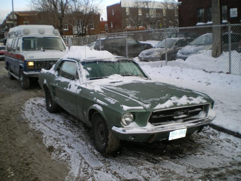 Hiver 2010, une Mustang 1967 dans la neige à Montréal ! Imgp4711