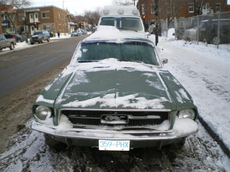 Hiver 2010, une Mustang 1967 dans la neige à Montréal ! Imgp4712