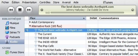 Comment écouter la webradio. Itunes10