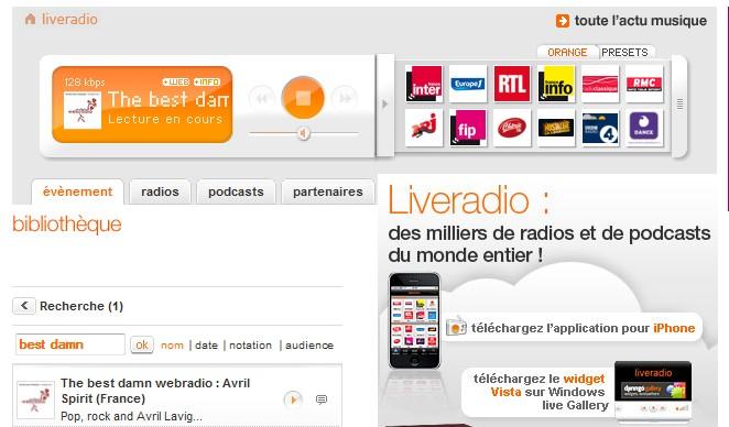 Comment écouter la webradio. Orange10