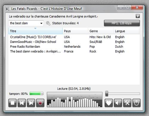 Comment écouter la webradio. Radios10