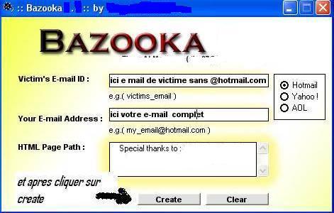 bazooka piratage de facebook