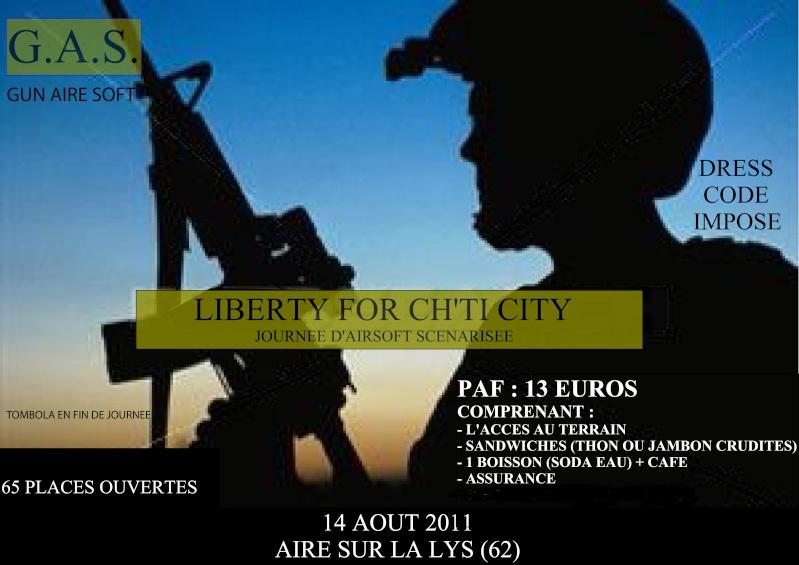 OP Liberty for Ch'ti City, 14 août 2011 Affich16