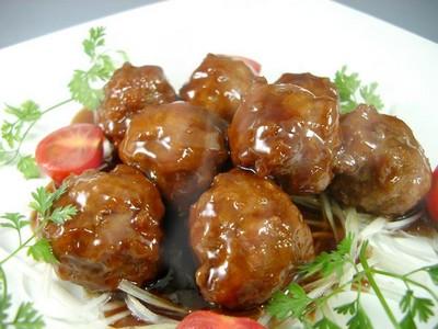 Boulettes de viande sauce caramélisée : Nikudango Sans_t89