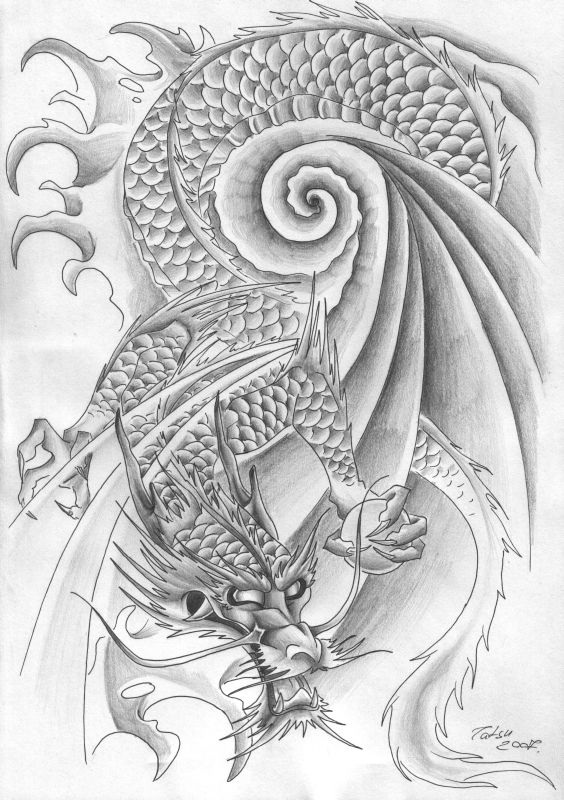 Tattoos Dragon10