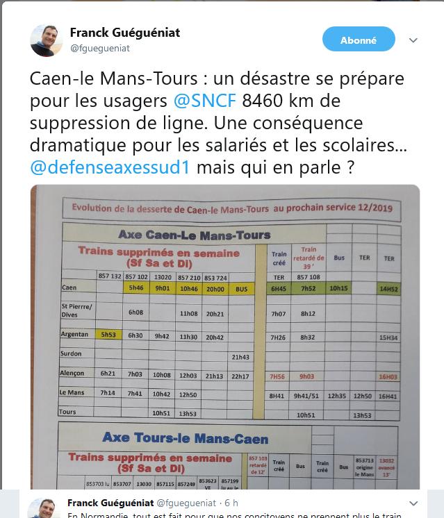 Trains en Normandie. Toujours de l'inquiétude surs quais  Caen_l10
