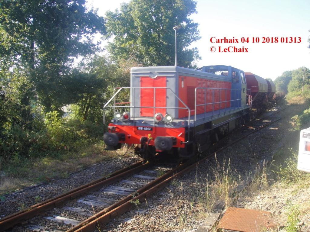 BB 4812 avec wagons ballastières & wagons plats Guingamp - Carhaix Carh_110