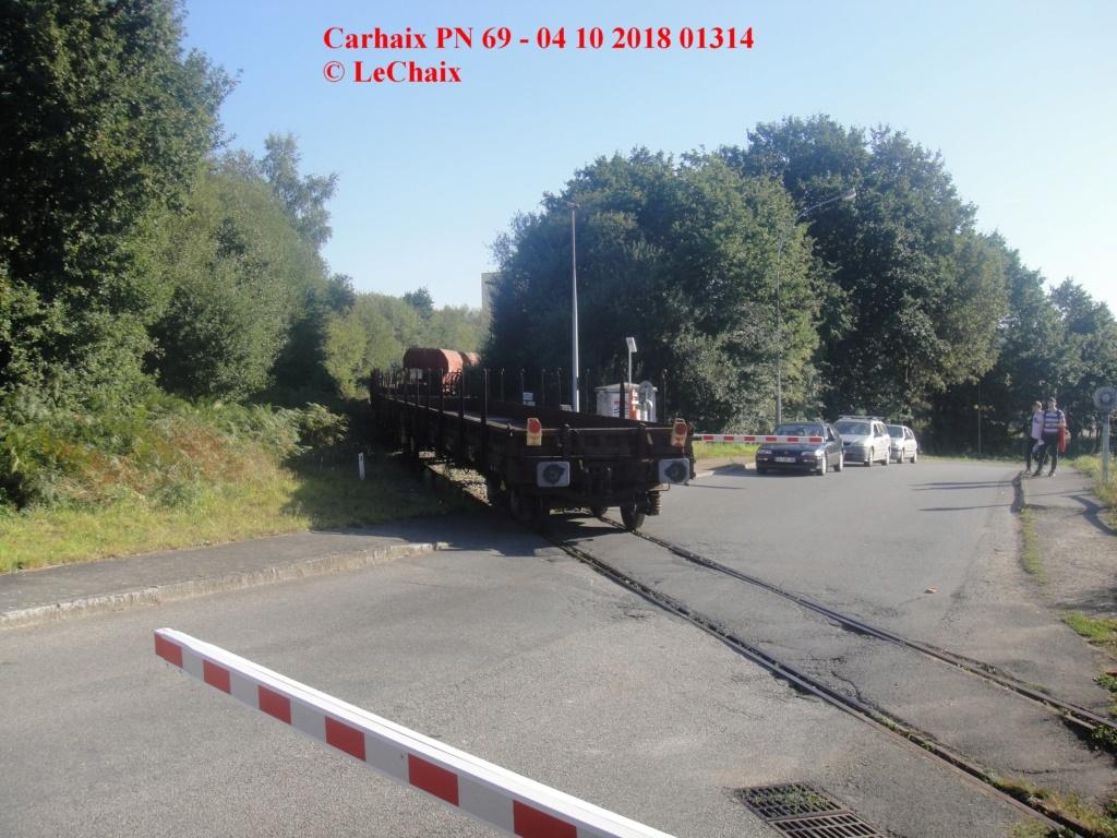 BB 4812 avec wagons ballastières & wagons plats Guingamp - Carhaix Carh_111