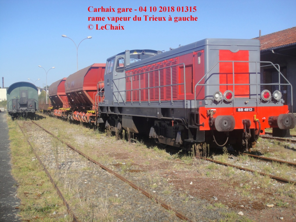 BB 4812 avec wagons ballastières & wagons plats Guingamp - Carhaix Carh_112