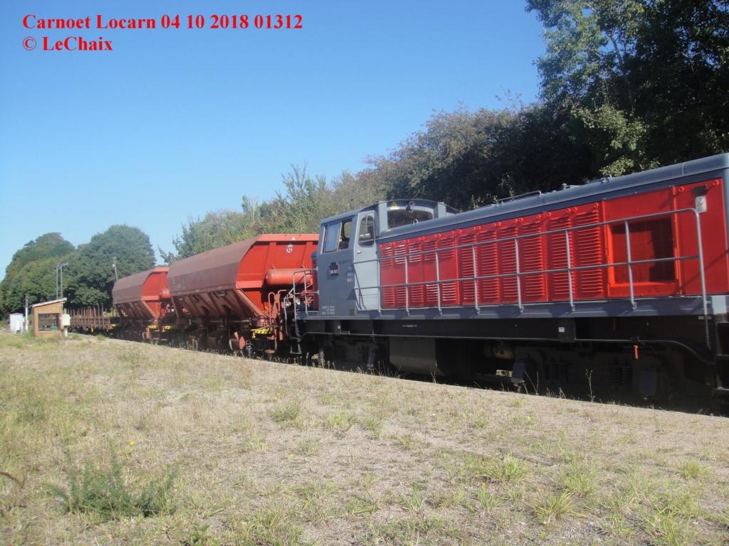 BB 4812 avec wagons ballastières & wagons plats Guingamp - Carhaix Carnoe11