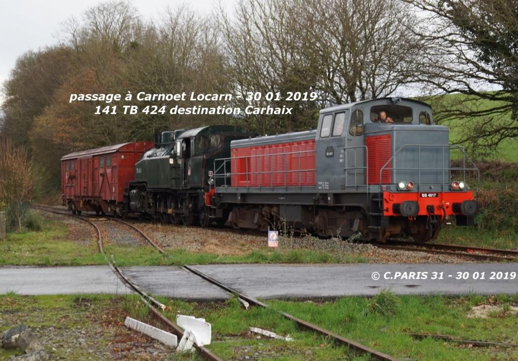 Carhaix. La machine à vapeur BB 141 TB 424  est à la CFTA Carnoe17