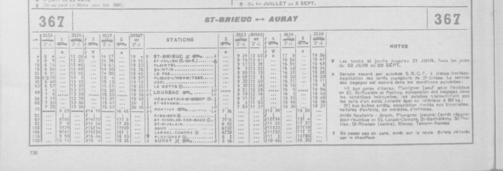 HORAIRES ST BRIEUC↔LOUDEAC↔PONTIVY↔AURAY - HIVER 1974/75 Chaix_29