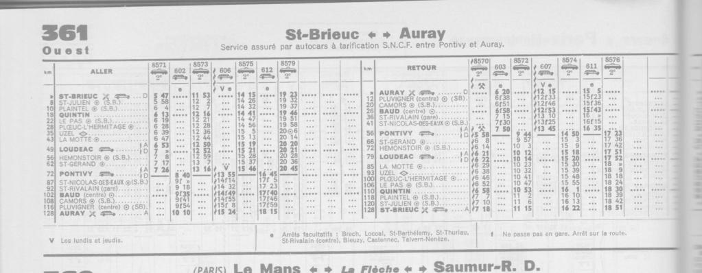 HORAIRES ST BRIEUC↔LOUDEAC↔PONTIVY↔AURAY - HIVER 1974/75 Image_24