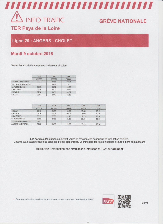 ANGERS - CHOLET mardi 9 oct GREVE perturbations TER Image_28
