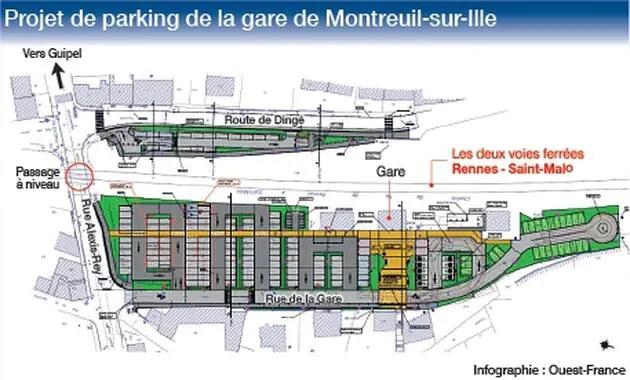 Montreuil sur Ille projet de parking Montre11