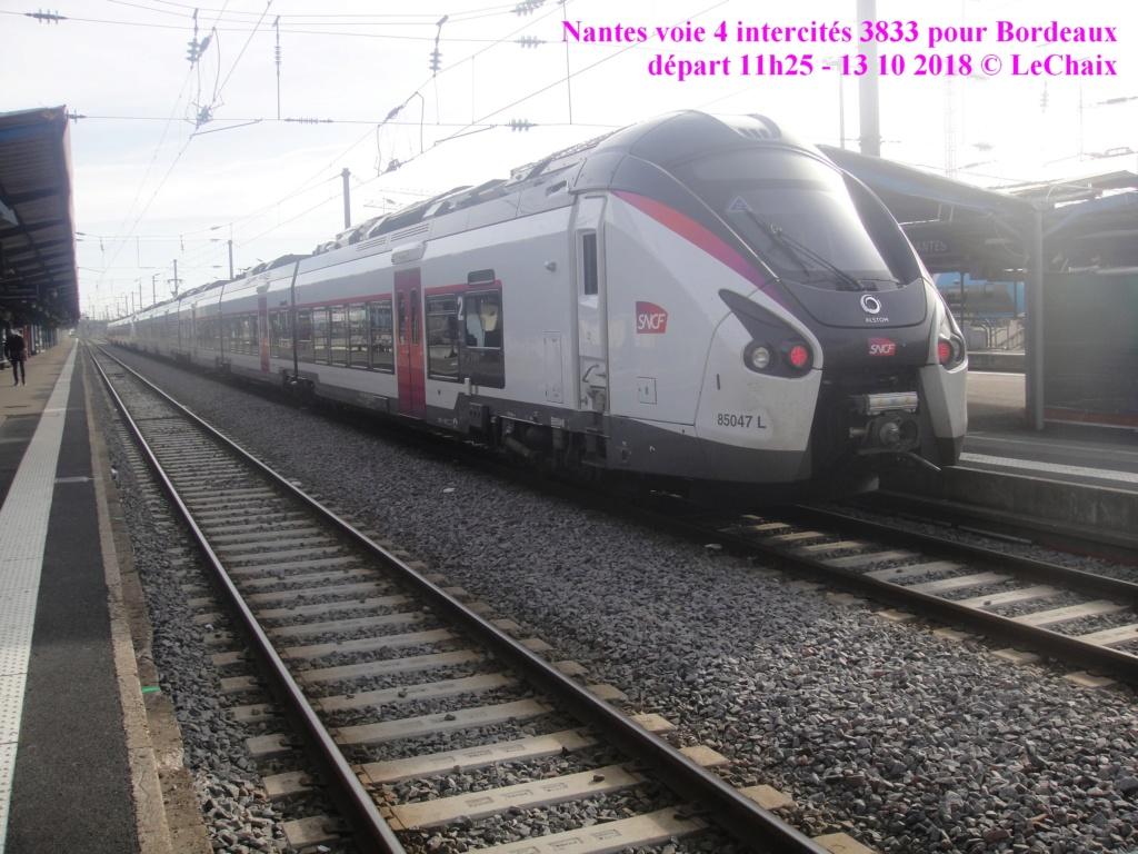 intercités 3833 Nantes 11h25 - Bordeaux 16h24 en Coradia Liner Nantes19