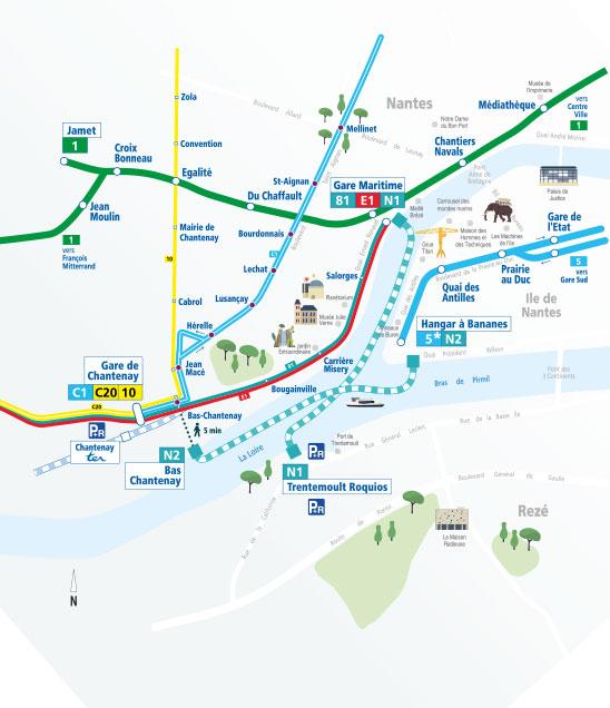 """Nantes. La nouvelle ligne de """"navibus"""" ouvre mardi Nantes32"""