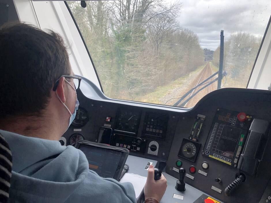 aux côtés du conducteur TER Brest Quimper Philip10