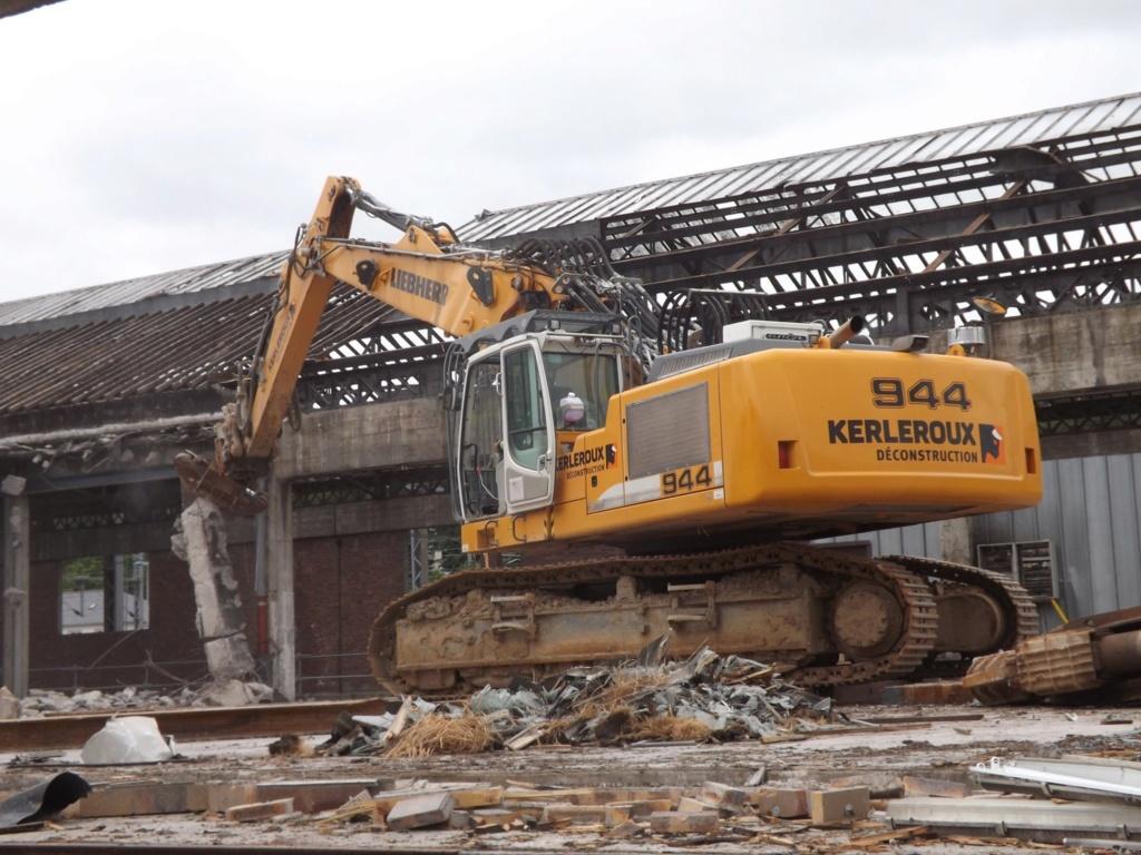 Quimer. Quinze nuits de travaux pour démolir la grande halle près de la gare Quimpe17