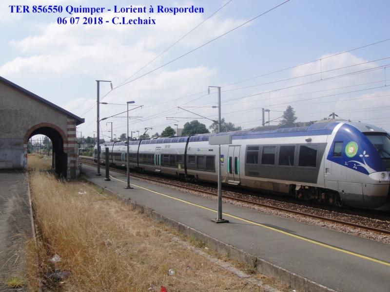 en gare de Rosporden trains et autocars TER entre 16 h 15 et 18 h vendredi 6 juillet 2018 Rospor10