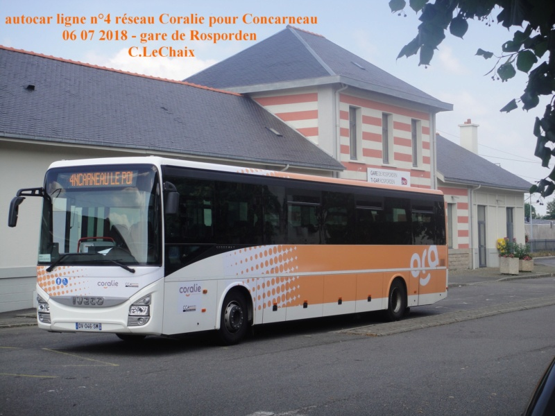 en gare de Rosporden trains et autocars TER entre 16 h 15 et 18 h vendredi 6 juillet 2018 Rospor11