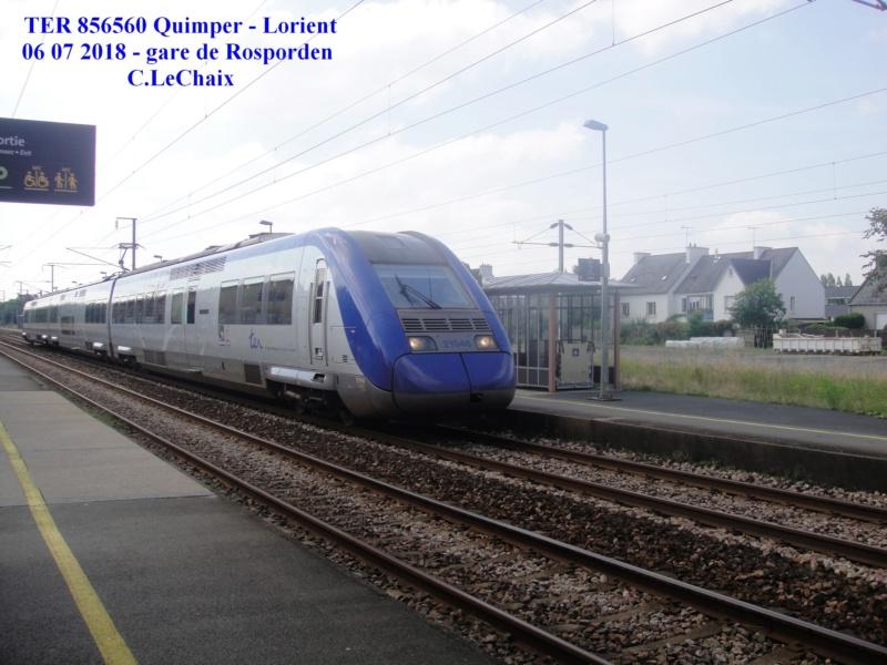 en gare de Rosporden trains et autocars TER entre 16 h 15 et 18 h vendredi 6 juillet 2018 Rospor12