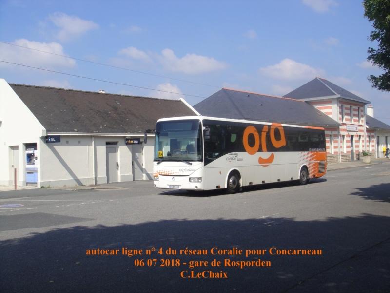 en gare de Rosporden trains et autocars TER entre 16 h 15 et 18 h vendredi 6 juillet 2018 Rospor13