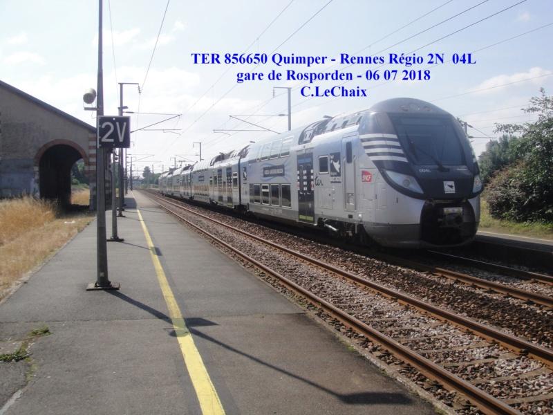 en gare de Rosporden trains et autocars TER entre 16 h 15 et 18 h vendredi 6 juillet 2018 Rospor15