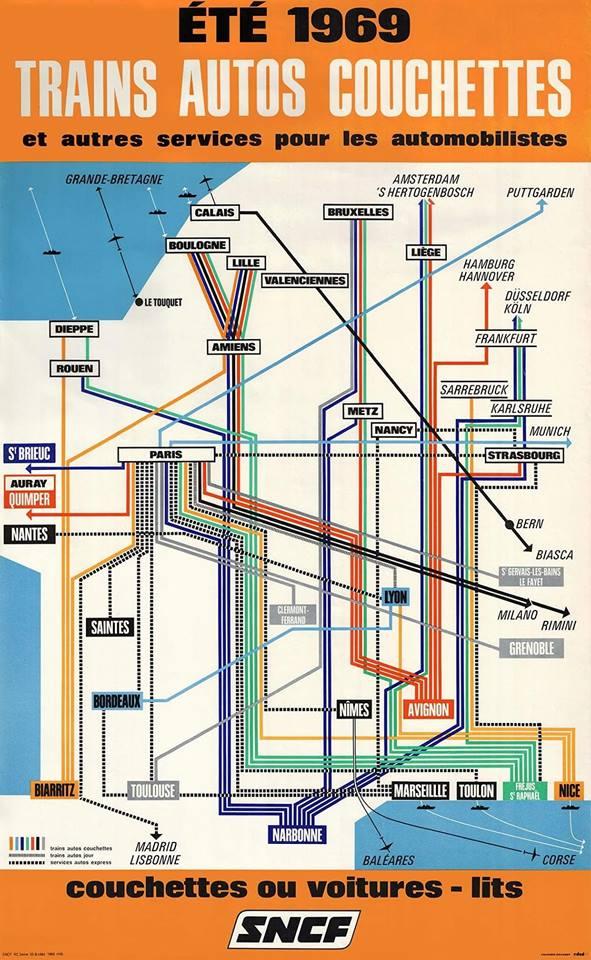 Saint Brieuc Train Autos Couchettes 1966 Tac_ca10