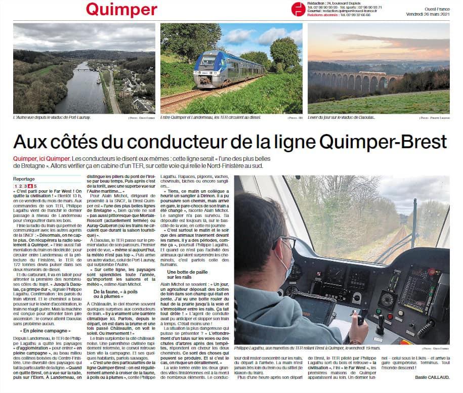 aux côtés du conducteur TER Brest Quimper Ter_la10