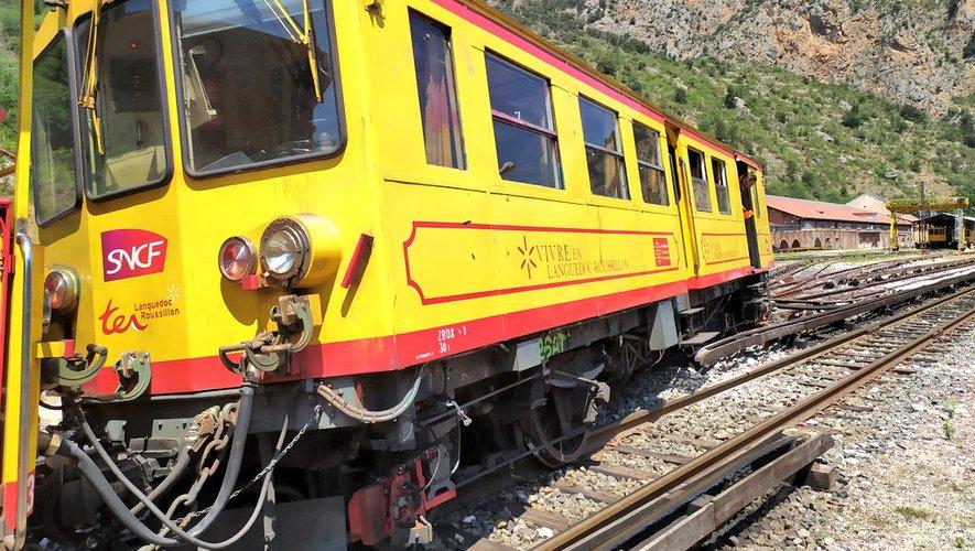 le train jaune ligne de Cerdagne de Villefranche Vernet les Bains à latour de Carol Train_25