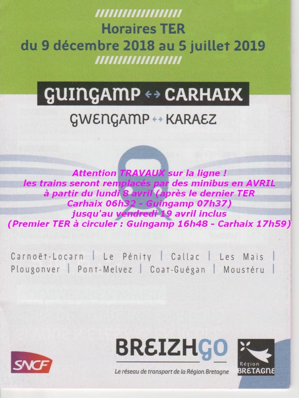 en Avril ... Travaux sur Guingamp - carhaix Travau11