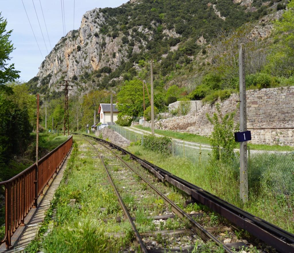 le train jaune ligne de Cerdagne de Villefranche Vernet les Bains à latour de Carol Villef20