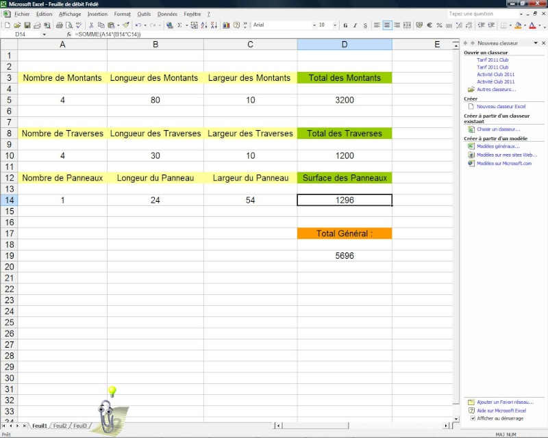 Besoin d'aide sur Excel Feuill10